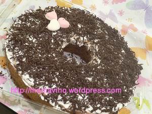 cake ketan item coklat serut